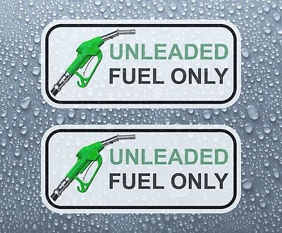 UNLEADED FUEL ONLY - Set of 2 printed colour self-adhesive stickers - PRNT1001