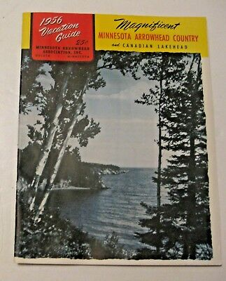 Vintage 1956 Minnesota Arrowhead Country & Canadian Lakehead Vacation Guide