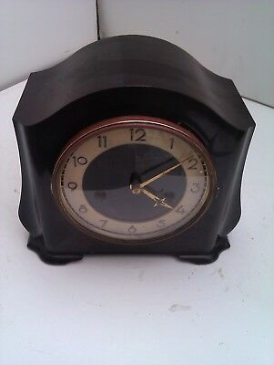 An Old Bakelite Chiming Mantle Clock In Full Working Order