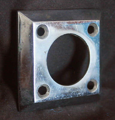 """3avail 2.5""""x2.5"""" Vintage NOS Antique Chrome Door Cylinder Mortise Key Hole Plate"""