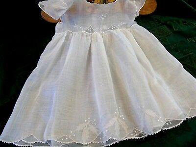 Gorgeous,Vintage,Fine Lawn Baby,Doll, Teddy Dress,Embroidery,Applique,Net GC