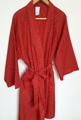 "Vintage Mens dressing gown St. Michael Large 44-46""  Red"