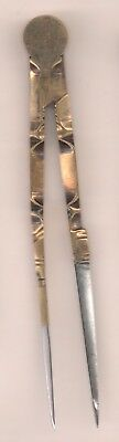 Vintage Drafting tool Brass Divider 6 inch ornate