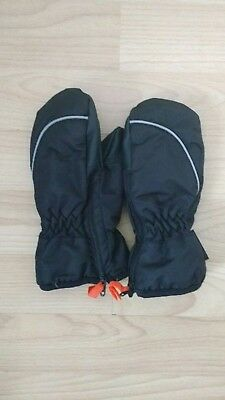 H&M Black Thinsulate Mittens With Side Zip Age 2-4