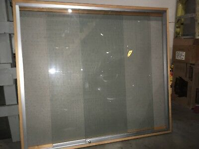 """Wall-Hung Glass Door Display Case 52""""x46"""" - with locking sliding glass doors"""