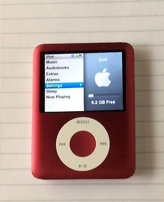 Apple iPod Nano 3rd Generation (8GB) RED  in good condition.