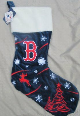 FOREVER COLLECTIBLES Boston Red Sox MLB Blue Christmas Stocking 21x12 NWT