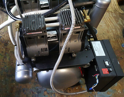 Midmark Power Air P22 Dental Air Compressor Dual Head---HAS ONLY 24 HOURS ON IT