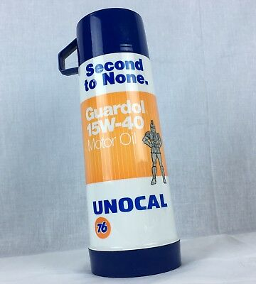 UNOCAL 76 Logo VIntage Thermos GUARDOL MOTOR OIL Aladdin Pint Hot Cold NEW