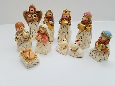 Nativity Set Mini Small Porcelain Figurines Figures Christmas Handcrafted Italy
