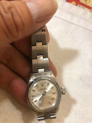 Rolex Oyster Perpetual Stainless Steel Ladies Wristwatch