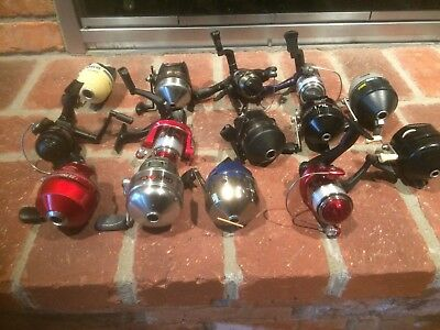 Lot of 14 Zebco, Shakespeare, & R2F Fishing Reels NEW & USED  – ALL WORKING