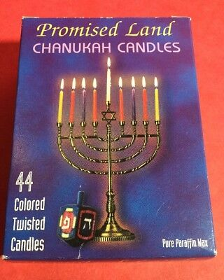Chanukah Candles ~ Promised Land ~ 44 Colored Twisted Candles NEW!