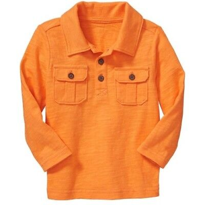 NWT Boy's Polo Shirt 2T Cotton Top Orange Old Navy