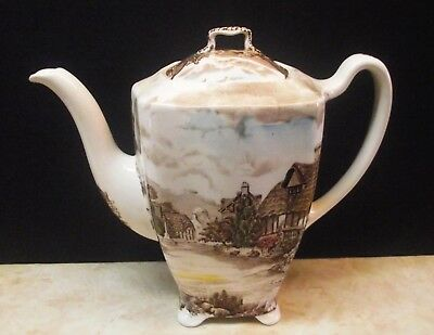 "Vtg Johnson Brothers ""olde English Countryside"" 6 Cup Tea/coffee Pot England"