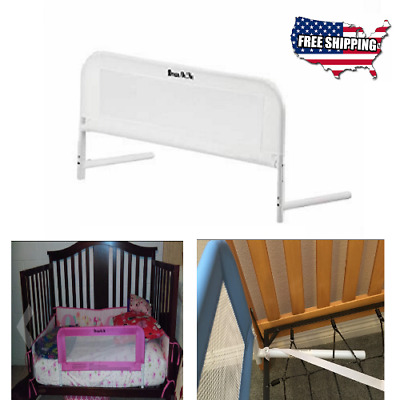 Single Fold Safety Bedrail Bed Rail Crib Toddler Elderly Child Guard Mesh Bed
