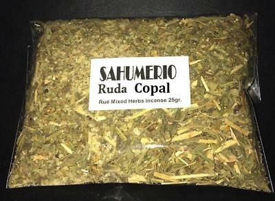 ☆ ☆ ☆ SAHUMERIO RUDA Y COPAL 25 gr. ☆☆☆ RITUAL SPELL WITCHCRAFT