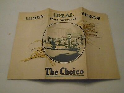 Vintage Rumely Ideal Separator Steel Threshers Brochure Advance-Rumely Thresher