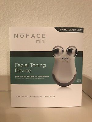 White- NUFACE MINI Facial Toning Anti Aging Device (NEW SEALED) - SHIPS U.S.A !