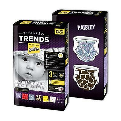 Pufies Trusted Baby Diaper Lot (talla 3, 4-9 kg|Paisley Trends)