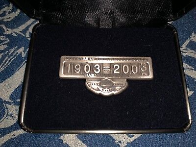 Harley Davidson 100th Anniversary Limited Edition Odometer Pin Sterling Silver