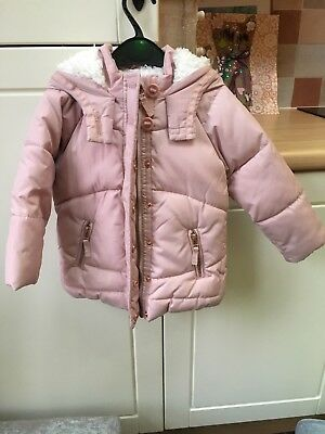 d2f376324527 NEXT COAT GIRLS Age 7 - 8 Long Black Quilted Jacket School - £11.99 ...