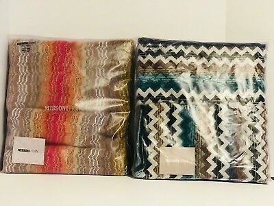 Missoni Home 2 Bath Towels Velour Cotton Collections Paul & Tiago U Pick in USA