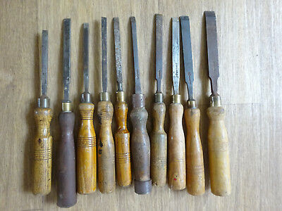 Vintage Job lot of 10  woodworking chisel - Old hand tools