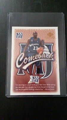 Michael Jordan - Upper Deck 2001 Limited Edition Wash Wizard Comeback