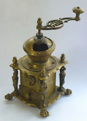 rare Kaffeemühle Messing moulin a cafe coffee grinder Historismus style 19thC
