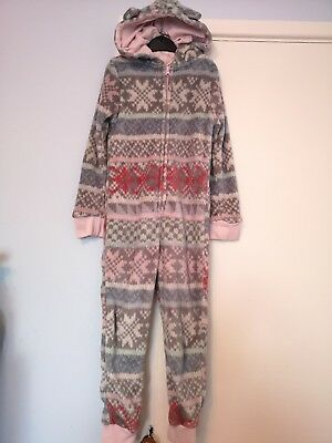 Girls warm fleece hooded all in one from cherokee. Size 7 to 8 years