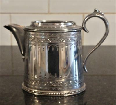 Elegant Antique Silver Plated Finely Decorated Milk Jug by Atkin Bros C 1850+