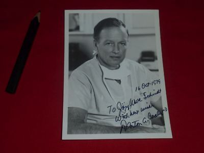 Denton Cooley (+) signiert - Autograph - signed - first implantation artificial
