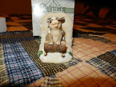 """Charming Tails figurine, """"Dashing Through The Snow"""" by Fitz and Floyd"""