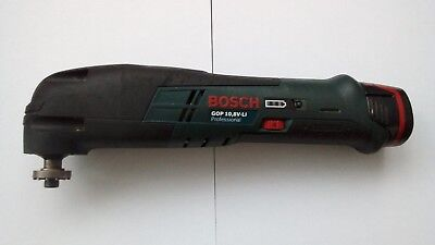 Bosch GOP 10.8v Li-Ion MultiTool, plus Charger, inlay and 3 Batteries