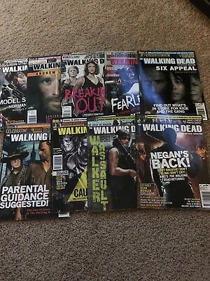 The Walking Dead Official Magazine Huge Lot 9, 11-18 (9 Issue Lot!) AMC comic