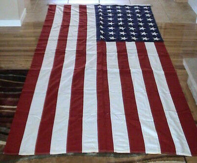 "Original WWII 48 Star Burial ""Steel Corner Anchors"" Flag Local WWII Pilot Killed"