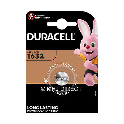 Duracell CR1632 DL 1632 Coin Cell Lithium 3v Batteries Best Before Use By 2026