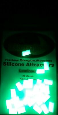 Moonglow Silicone Luminous Attractors. Sea fishing, soft beads, glow in the dark