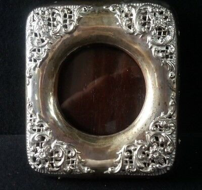 Antique Solid Silver Small Picture Frame Birmingham 1899   (J1)