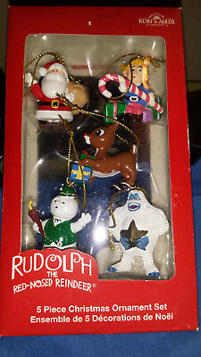 Kurt S Adler Rudolph The Red Nosed Reindeer 5 Piece Mini Christmas Ornament Set