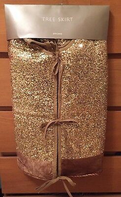John Lewis Gold Sequins christmas tree skirt,New