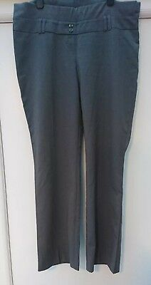 Maternity Grey Trousers, Size 12 R, Moda Mothercare.