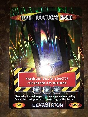 Super Rare Doctor Who Battles In Time Trading Card 10th Doctor's Hand Number 959