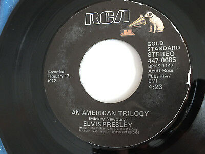 """7"""" vinyl - Elvis Presley - American Trilogy/Until It's Time For You To Go - RCA"""