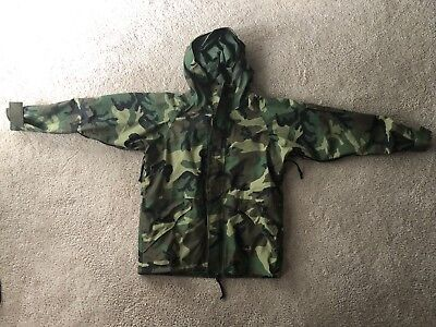 Army Woodland Gore-Tex Camo Parka Cold Wet Weather Large Long