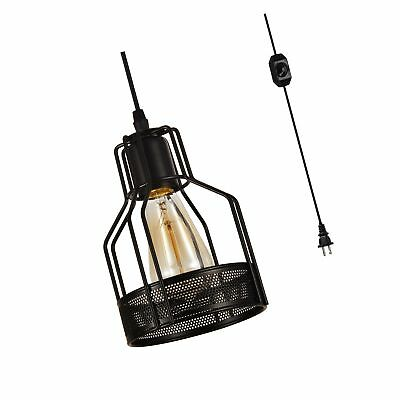 HMVPL Industrial Pendant Light with 16.4 Ft Plug in Cord and On/Off Dimmer Sw...