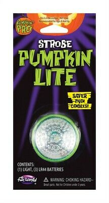 Fun World  Pumpkin PRO  Strobe Lite  Lighted Pumpkin Accessory  5 in. H x 1.5 in