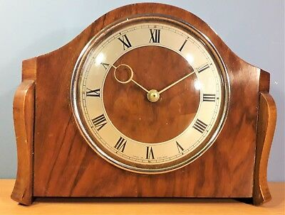 Vintage Mechanical Mantle Clock, in a Wooden Case, Working order