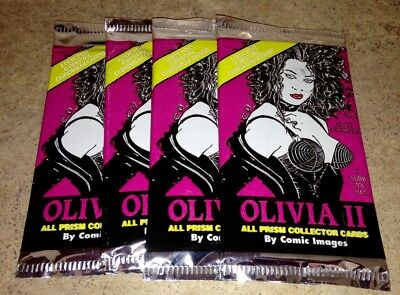 4 new/unopened packs - OLIVIA II ALL PRISM COLLECTOR CARDS - DeBerardinis,tradin